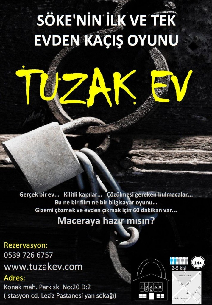 TUZAK EVescape room in Turkey