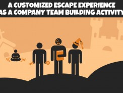A customized escape experience as a company team building activity